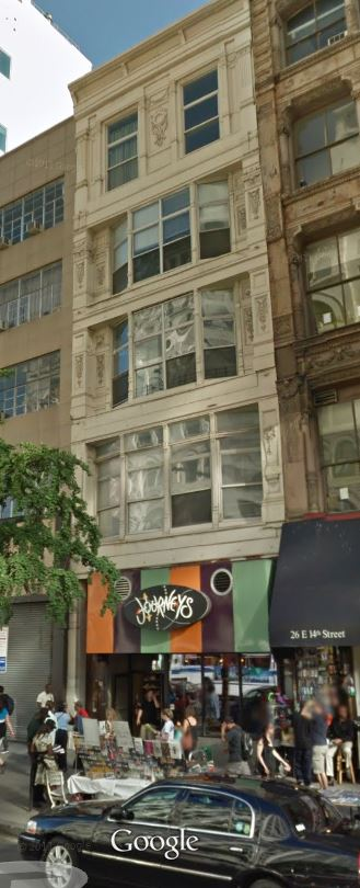 The Janice Studios, one block west of Union Square